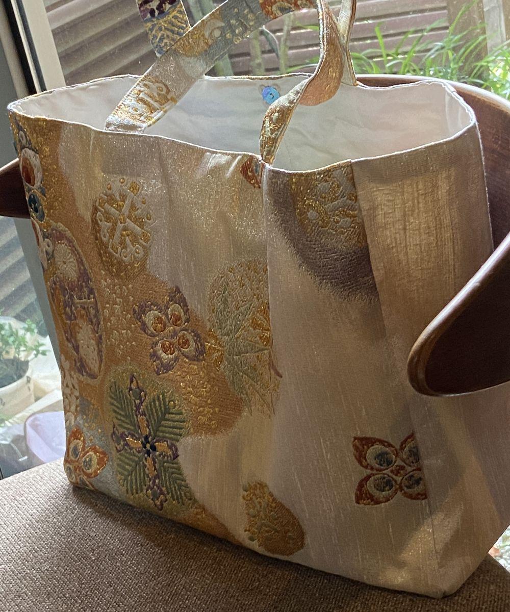 小西新薬堂店の手作りオリジナル着物帯バッグ